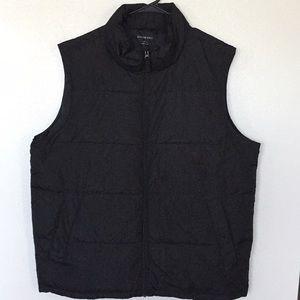 Land's End Men's Black Down Puffer Style Vest (L)